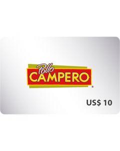 Certificado Pollo Campero $10