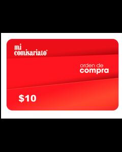 Gift Card Mi Comisariato $10
