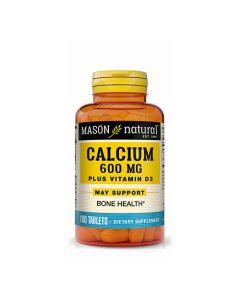 Calcio 600mg + Vitamina D3 - 100 tabletas