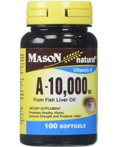 Vitamina A de 1000IU - 100 cápsulas de gel