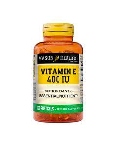 Vitamina E de 400IU - 100 cápsulas de gel