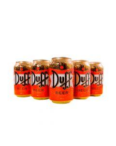 Cerveza Duff. 330cc sixpack en lata