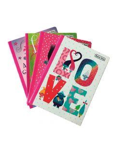 4 Cuadernos 100 Hojas Cosido Trolls