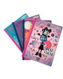 4 Cuadernos 100 Hojas Cosido Vampirina