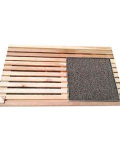Bandeja de desinfección madera