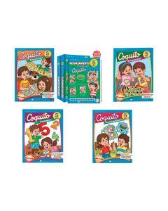 Kits Librería Coquito de reforzamiento en casa para niños de 5 años