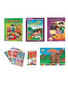 Kits Librería Coquito de reforzamiento en casa para niños de 6 años